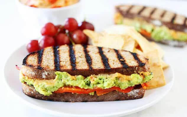 Hummus And Feta Sandwiches On Whole Grain Bread Recipes — Dishmaps