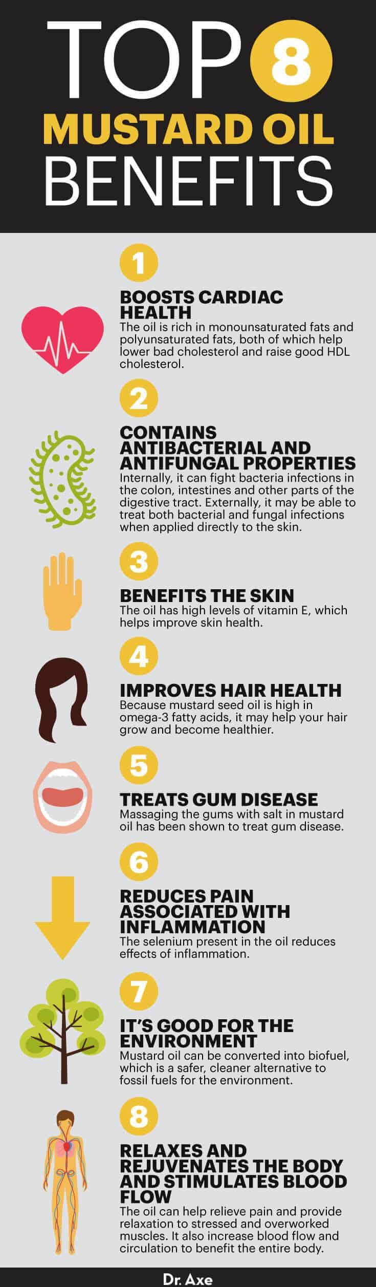 Mustard oil benefits - Dr. Axe