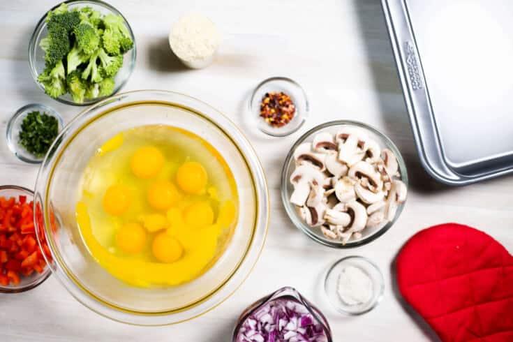 Bone broth protein veggie frittata ingredients - Dr. Axe