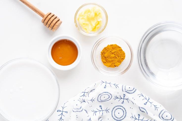 Turmeric tea recipe ingredients - Dr. Axe